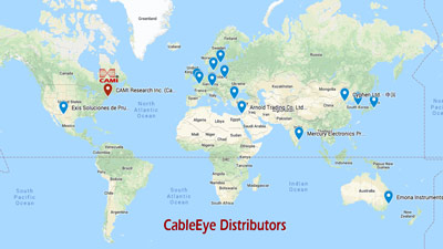 Map showing CableEye distributors