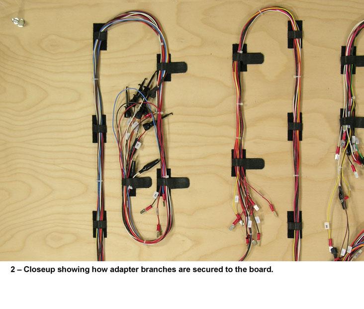 Close up of Branch Attachment wire harness board attachments washer boards, frame boards, pin wire harness board frames at reclaimingppi.co