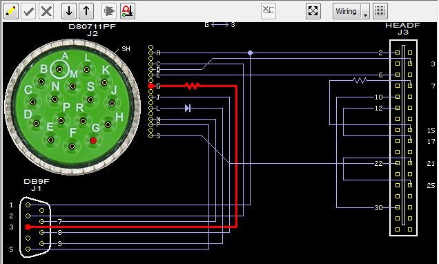 Wiring schematic of graphic-rich GUI common to all CableEye testers (low voltage AND high voltage)